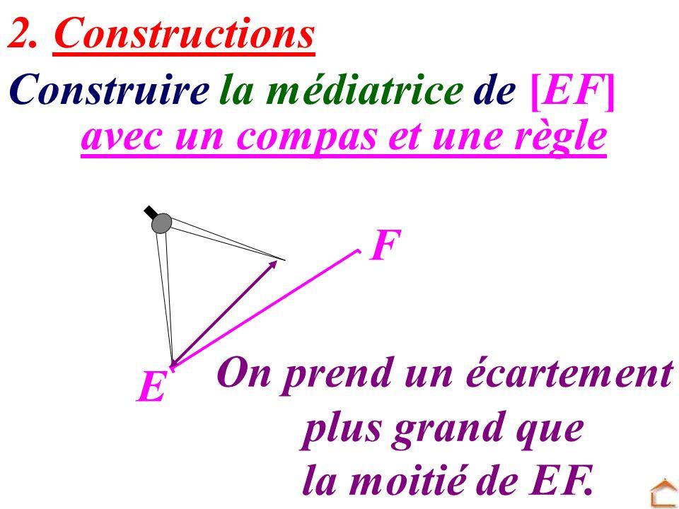 Construire la médiatrice de [EF]
